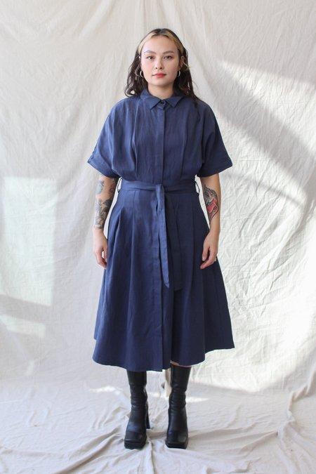 Komodo Wrap Dress - Navy