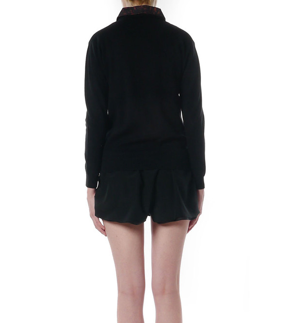 3.1 Phillip Lim Moto Sweater-Jacket in Spotted Pony Combo