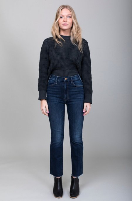 Mother Denim Hustler Ankle Fray Jean - Teaming Up