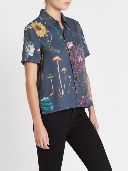 Mother Denim The Staycation Shirt - blue