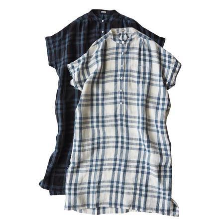 Makie Claudia Shirt Dress - Blue Plaid