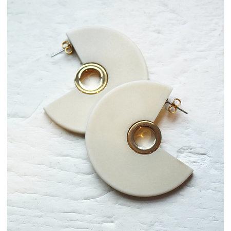 Rachel Comey Pac Earring - Bone