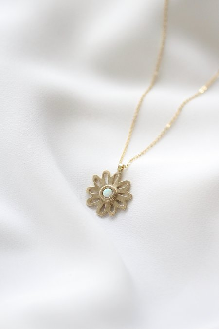 Therese Kuempel Flower Necklace - Brass