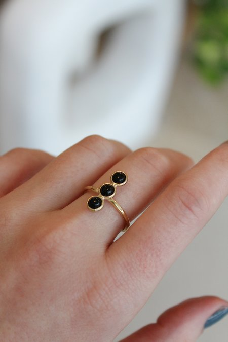 Therese Kuempel Trio Ring - Onyx