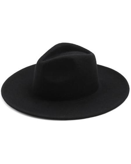 Persons Wool Travelers Hat - Black