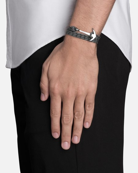 Miansai Anchor On Rope Bracelet - Concrete/Silver