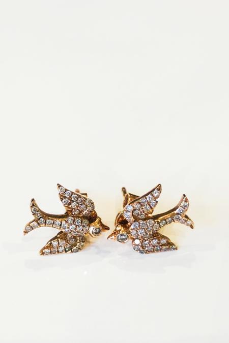 Pade Vavra Dove Studs - 14k Rose Gold/Diamond