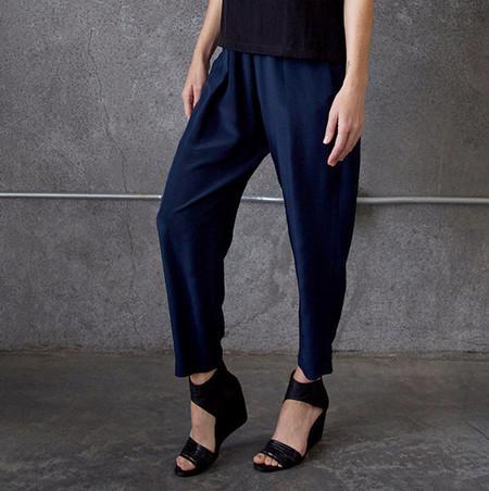 Raquel Allegra Navy Silk Pants