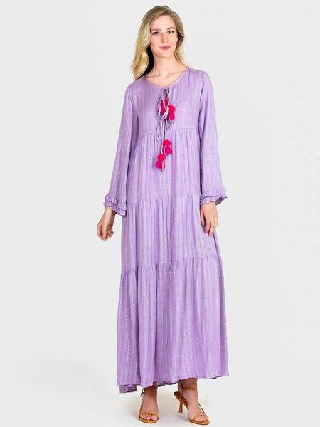 Sundress Neo Long Roma Dress - Lavender/Fuchsia