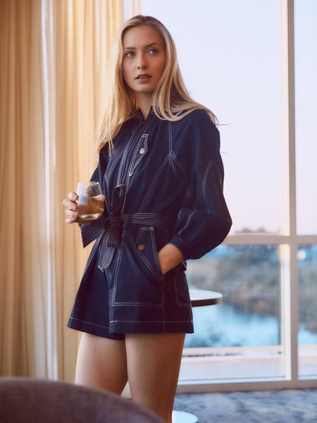 Ulla Johnson Piper Romper - Midnight