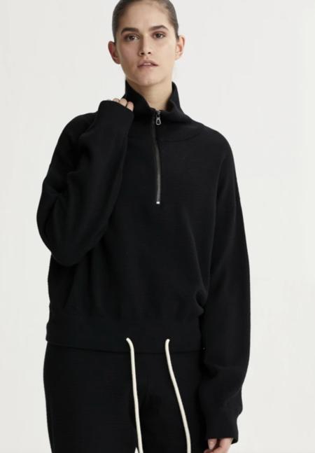 Varley Buckingham Half Zip Double Sweater - Black