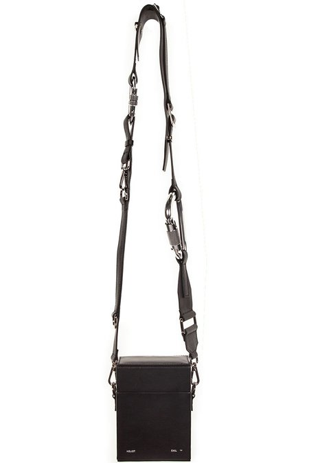 Heliot Emil Leather Strap Box Bag - Black