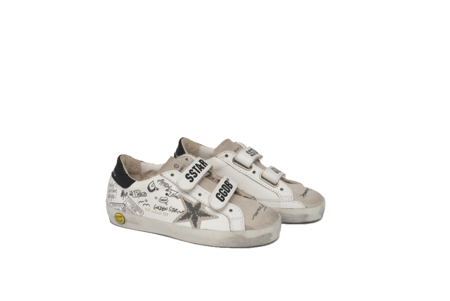kids Golden Goose OLD SCHOOL LEATHER UPPER SUEDE STAR JOURNEY SIGNATURE GYF00111.F000425.10220 sneakers - white