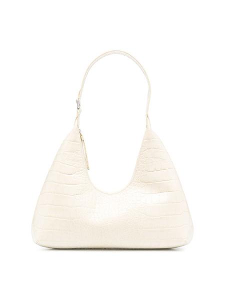 By FAR Amber Embossed Shoulder Bag - Cream