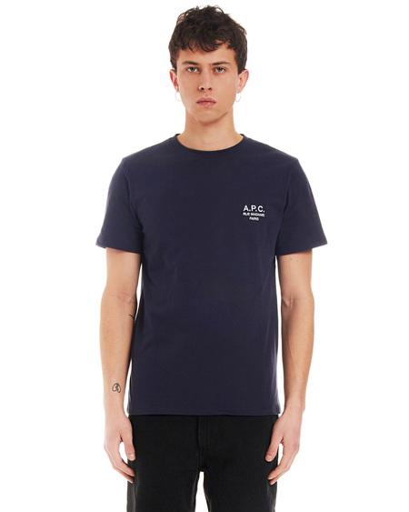 A.P.C. T-shirt with Print - Dark Blue