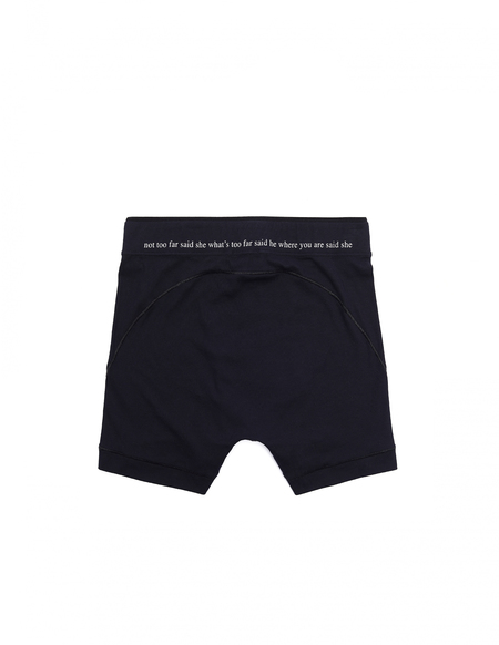Ann Demeulemeester Printed Waist Boxers - black