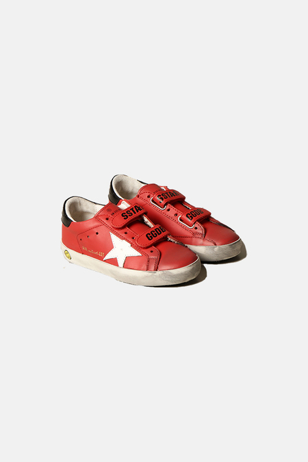kids Golden Goose Toddler Old School Shoes - Red/White Star
