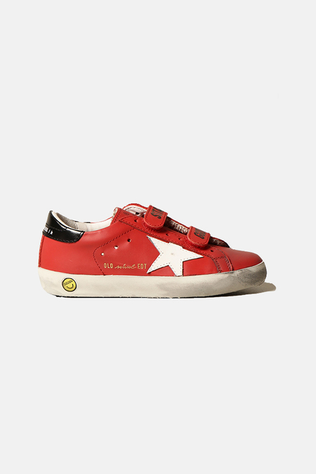 Kids Golden Goose Old School Shoes - Red/White Star
