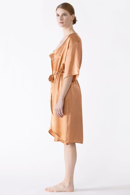 NK IMODE Sierra 3/4 Sleeve Front Tie Silk Robe
