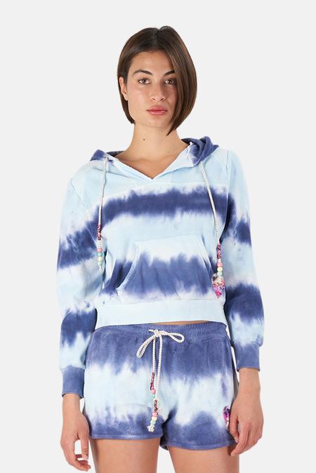 LoveShackFancy Kirby Hoodie Sweater - Wave Top