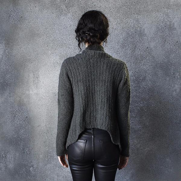 Skin Moto Sweater in Olive