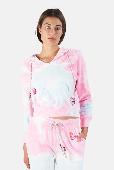 LoveShackFancy Kirby Hoodie Sweater - Cherry Fizz
