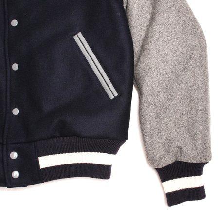 Golden Bear Wool Varsity - Navy Grey