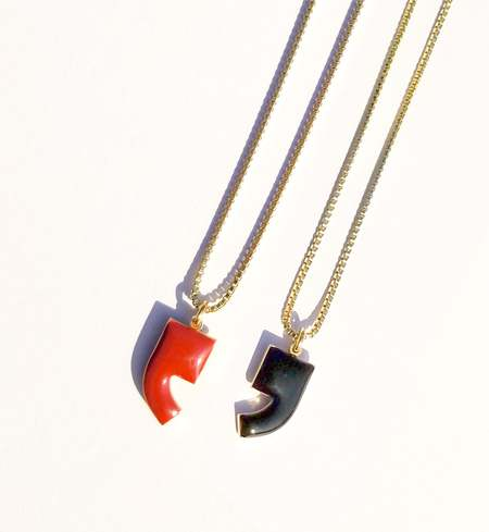 Matter Matters Comma Necklace - Black/Maroon
