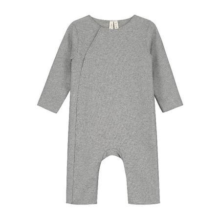 gray label baby suit - grey melange