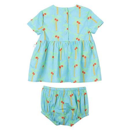 kids Stella McCartney Baby palm print Matching Bloomers and Dress - Blue