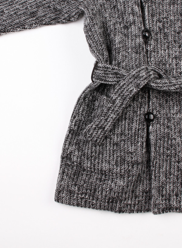 Engineered Garments Shawl Collar Knit Jacket Grey Sweater Knit