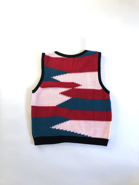 MILA ZOVKO NIVES Knitted Vest - Pink/Red/Teal