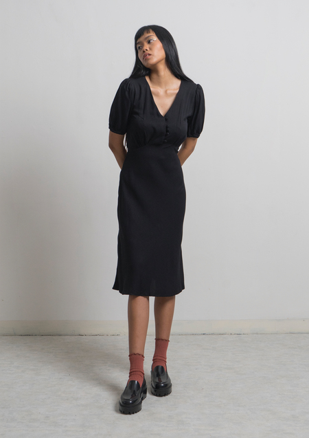 ENSEMBLE THE LABEL CHALEUR DRESS - BLACK