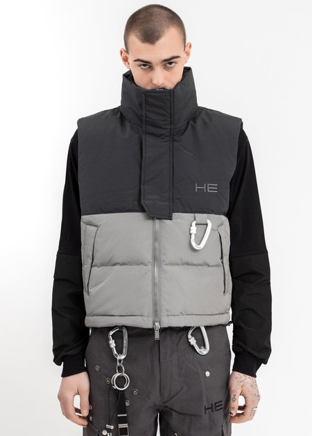 Heliot Emil Carabiner Down Vest - Grey