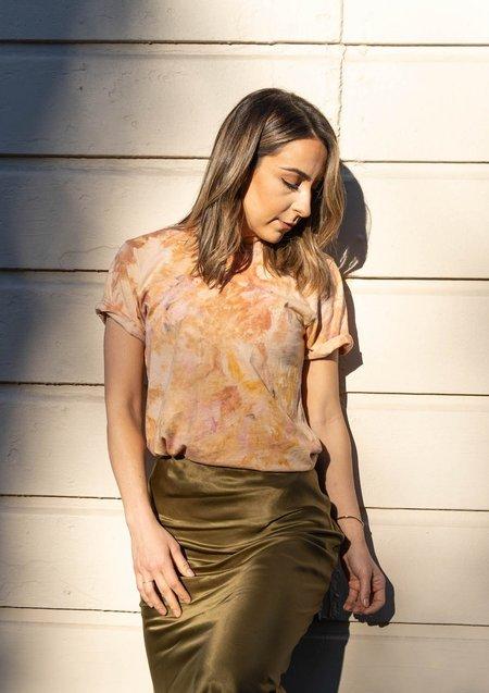 Mira Blackman Organic Tie Dye Tee - Desert Sun