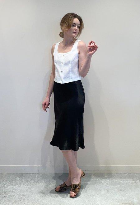 R.G. Kane Bias Midi Skirt - Black