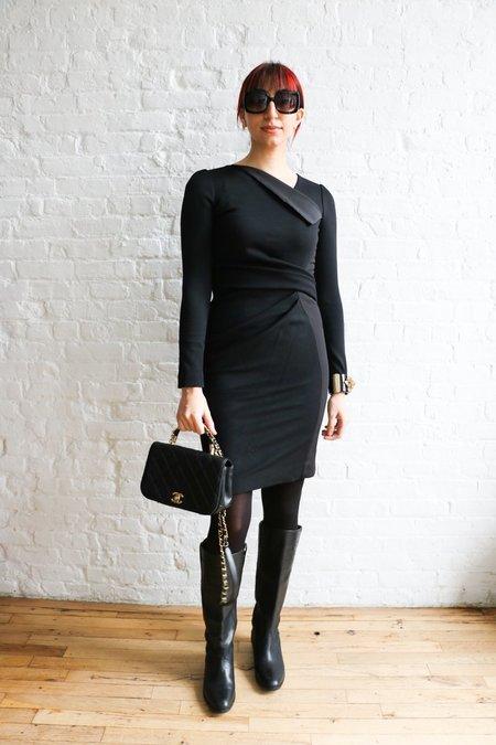 [pre-loved] J. Mendel Sheath Midi Dress - Black