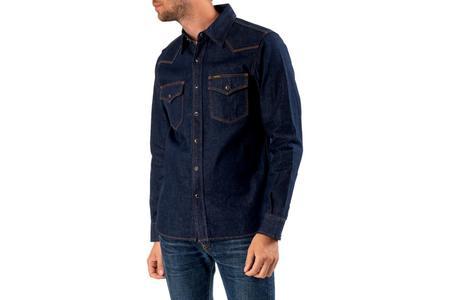 Iron Heart 12oz Selvedge Denim Western Shirt - Natural Indigo