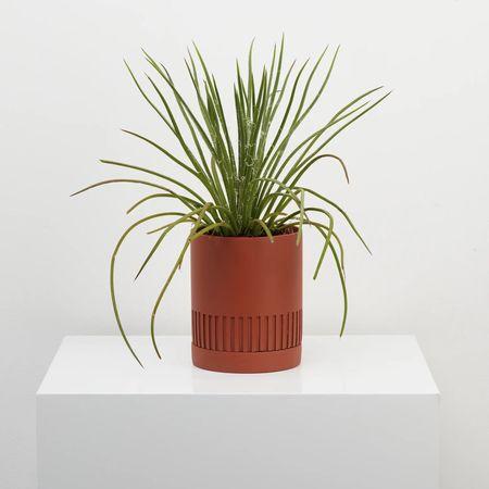 Capra Designs Etch Planter - Terra Cotta
