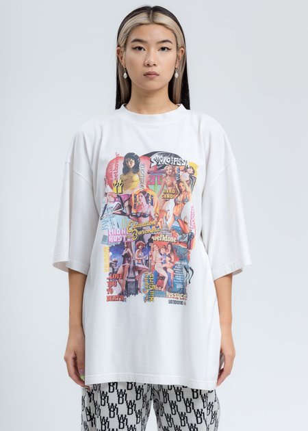 we11done New Movie Collage Tee Shirt - Washed White