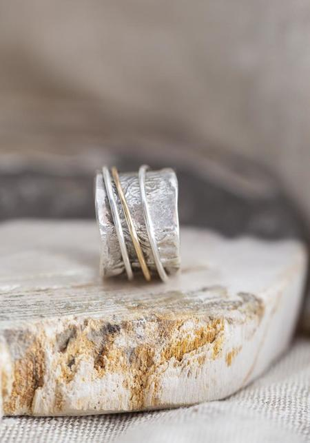 Tamara Kelly Designs Spinning Ring - Sterling Silver/Gold Fill