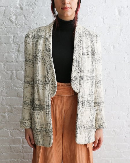 [pre-loved] Chanel Casual Tweed Jacket - Cream/Black