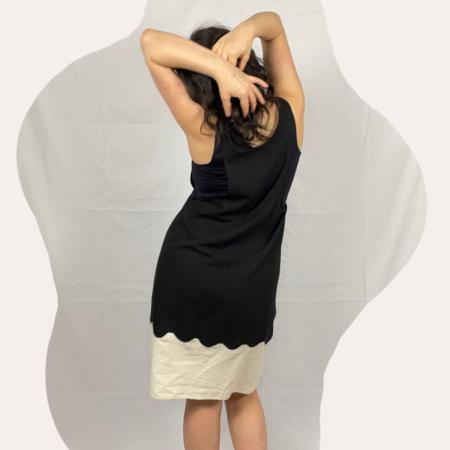Laurs Kemp Wavy Silk Dress - Black/White