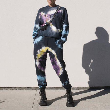 Aries Arise No Problemo Headlights Sweatshirt - Tie Dye
