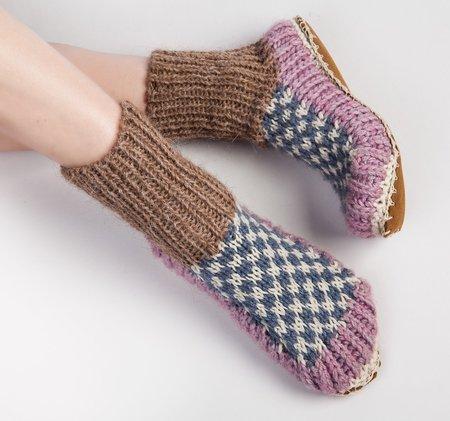 Ariana Bohling Berkley Knit Slipper Sock - Lilac
