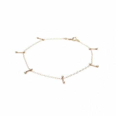 Plume Gold Bar Chain Bracelet - Gold