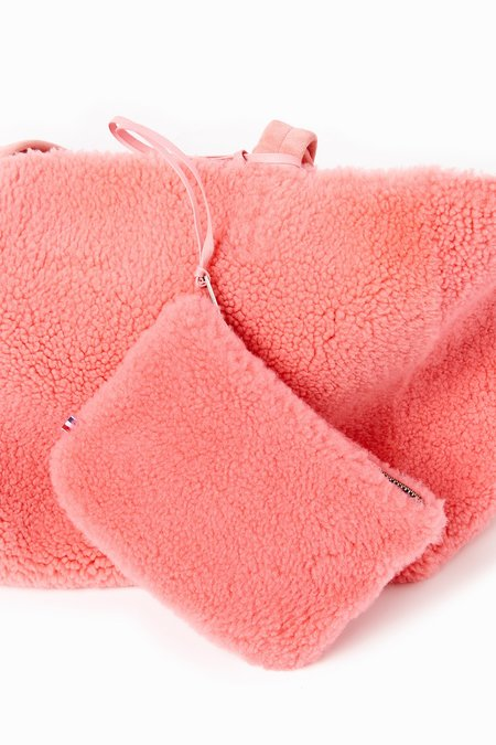 Toasties Shearling Tote Bag - Pink