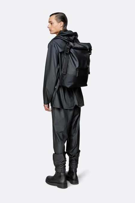 UNIESX Rains Buckle Roll Top Backpack - Black