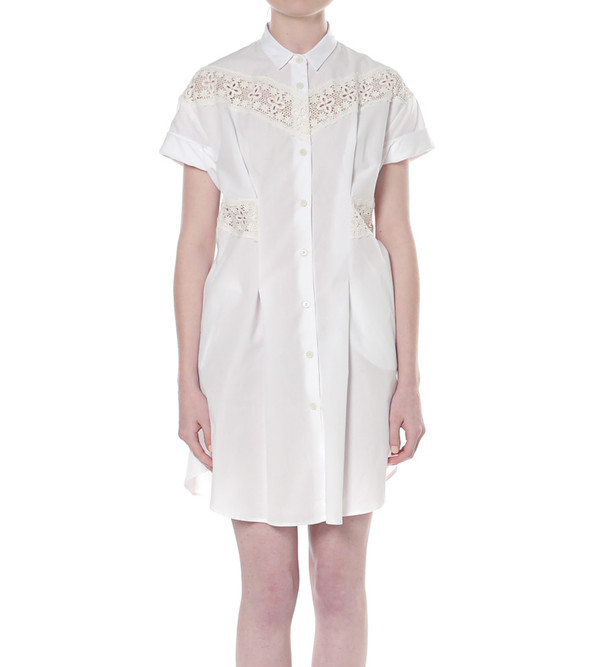 Sea NY Pintucked Button-down Dress