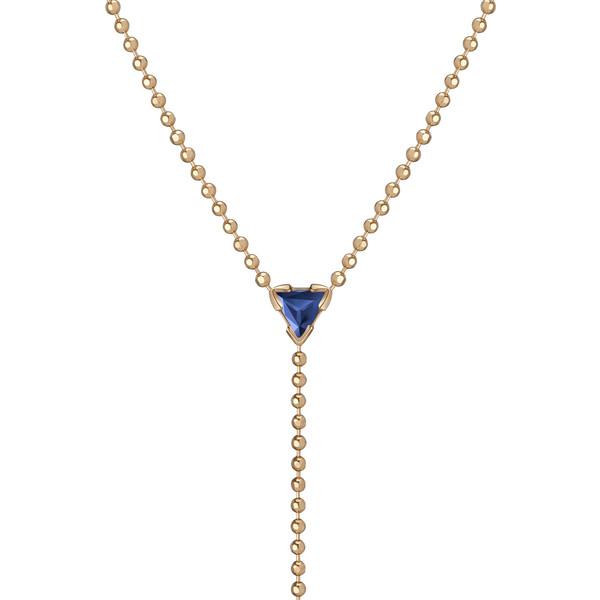 """Shahla Karimi 14K Gold Birthstone """"Y"""" Lariat Necklace"""